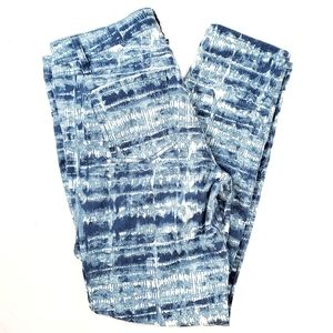 SANCTUARY Surplus | Print Blue Denim Jeans 30 / 10